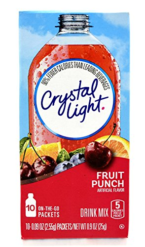 Crystal Light On The Go Fruit Punch Drink Mix, 10-Count Boxes (Pack of 12) (Crystal Go On The Fruit Punch Light)