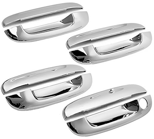 MaxMate 02-09 Chevy Trailblazer/05-07 Buick Rainier/02-09 GMC Envoy/03-07 Cadillac CTS/00-05 Deville/06-11 DTS Chrome 4 Doors Handle Cover W/O Passenger Side Keyhole