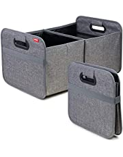 achilles Auto vouwbox, kofferbak-organizer, opvouwbare autotas, vouwmand, opbergtassen, kofferbaktas, grijs, 50 cm x 32 cm x 27 cm