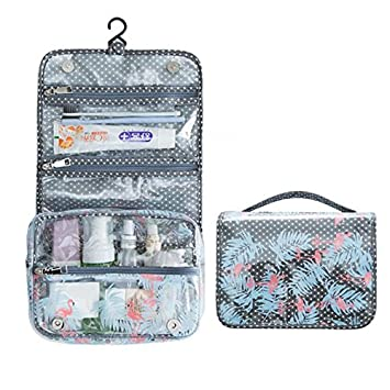 9bf180fb14 Amazon.com   Transparent PVC Travel Cosmetic Makeup Bag Case Hanging Toiletry  Bags Travel Wash Organizer Kit For Women Men (Blue)   Beauty