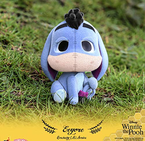 (Hot Toys HT Cosbaby Original Winnie The Pooh Eeyore Bobble Head Collectible Figures Car Decoration Figurine Collection Gifts for Kids Or Girls)