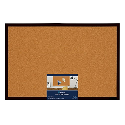 Amazon quartet bulletin board cork board 2 x 3 black amazon quartet bulletin board cork board 2 x 3 black frame mwdb2436 bk office products gumiabroncs Image collections