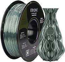 PLA Filament 1.75mm Silk, ERYONE Silky Shiny Filament PLA 1.75mm, 3D Printing Filament PLA for 3D Printer and 3D Pen, 1kg...