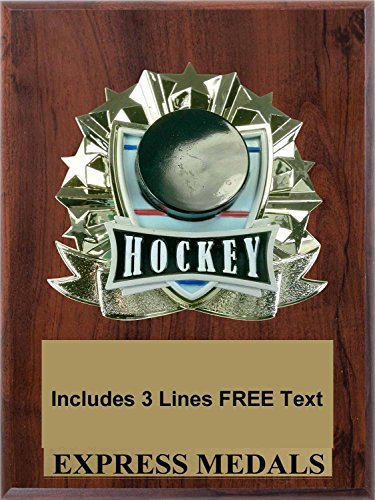 Hockey Plaque Trophy Award - Plaque Hockey Award