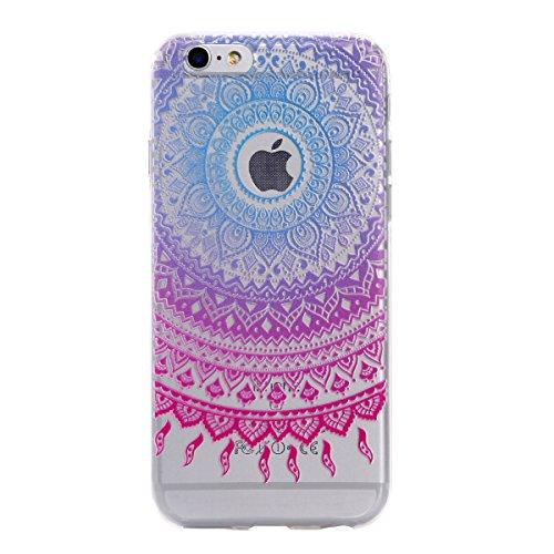 Voguecase® für Apple iPhone 6/6S 4.7 hülle, Schutzhülle / Case / Cover / Hülle / TPU Gel Skin (Lace Teppich 08/Bunt) + Gratis Universal Eingabestift