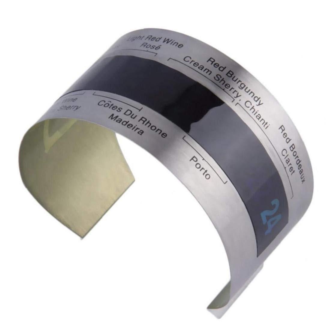 Acero Inoxidable LCD el/éctrico Vino Tinto Term/ómetro Digital de Temperatura del medidor La Barra de Herramientas