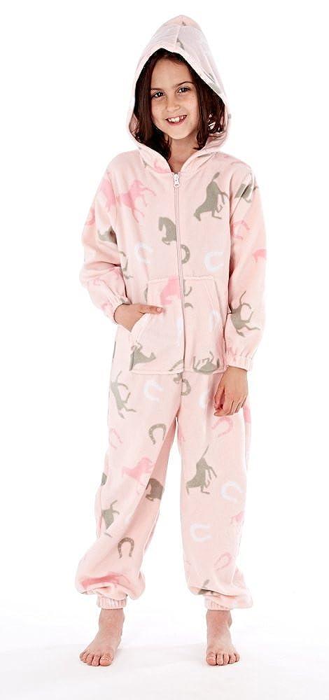 Platinum Girls Happy Horse Hooded Fleece Onesie - Pink (11 - 12 Years)   Amazon.co.uk  Clothing 8c9776b40