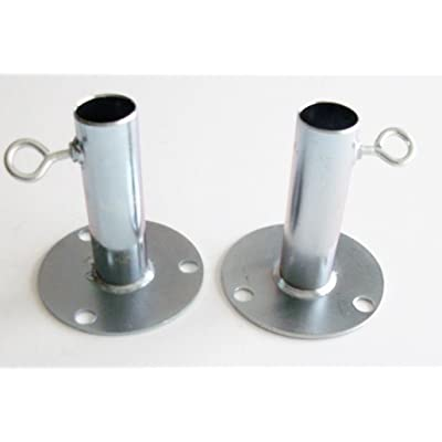 """2pc - 1"""" SHORT FOOT PAD CANOPY FITTING / BATTING CAGE GROUND PLATE FITTING (FPB) : Garden & Outdoor"""