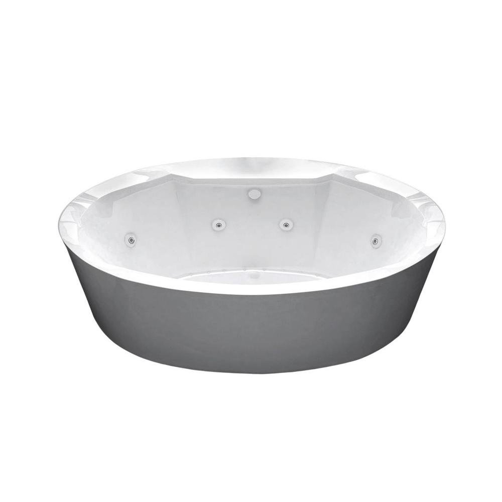 Sunstone 5.7 ft. Whirlpool and Air Bath Tub in White - - Amazon.com