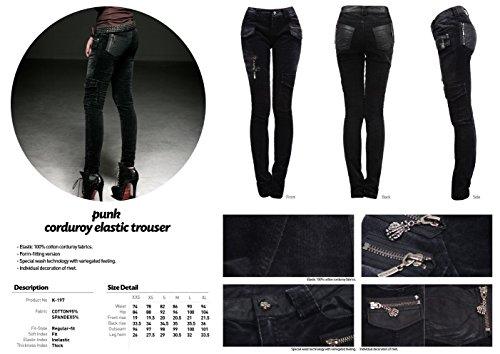 Pantaloni Skinny Donna Rave Punk Basic R7qwf1vx