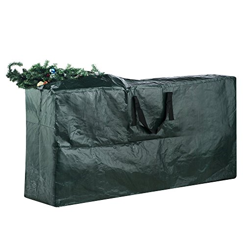 elf stor premium green christmas tree bag holiday extra large for up to 9 tree storage - Christmas Tree Storage Containers
