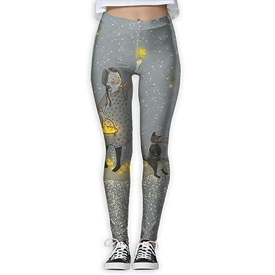 XDDFRTFF Women's Full-Length Yoga Pants 3D Printed Fish Star Workout Leggings