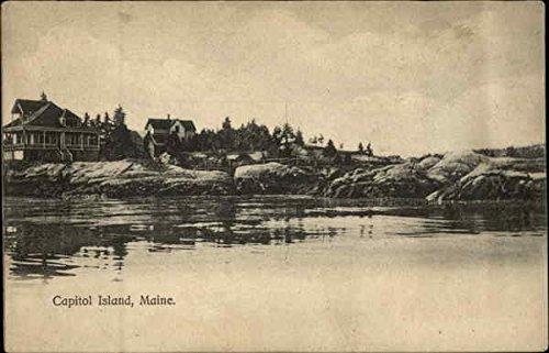 Island Southport (Capitol Island Southport, Maine Original Vintage Postcard)