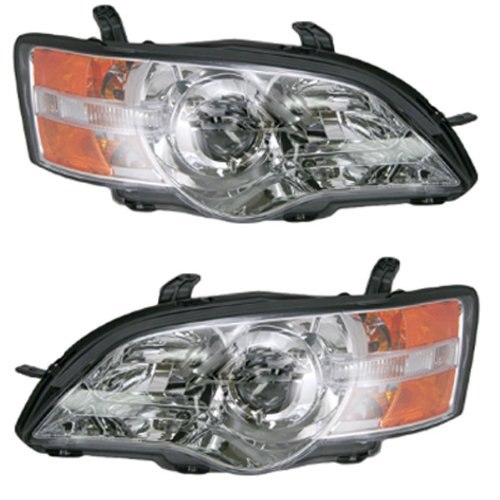[2006-2007 Subaru Legacy & Outback Headlight Headlamp Composite Halogen Front Head Light Lamp Set Pair Left Driver And Right Passenger Side (06 07)] (Subaru Legacy Headlight Headlamp)