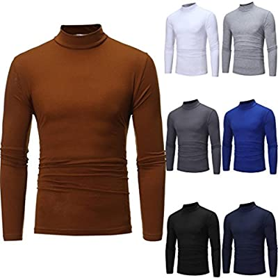 Pervobs Long Sleeve Shirts, Big Promotion! Men's Autumn Long Sleeve O-Neck Stretchy Turtleneck T-shirt Top Sweatshirt Blouse by Pervobs