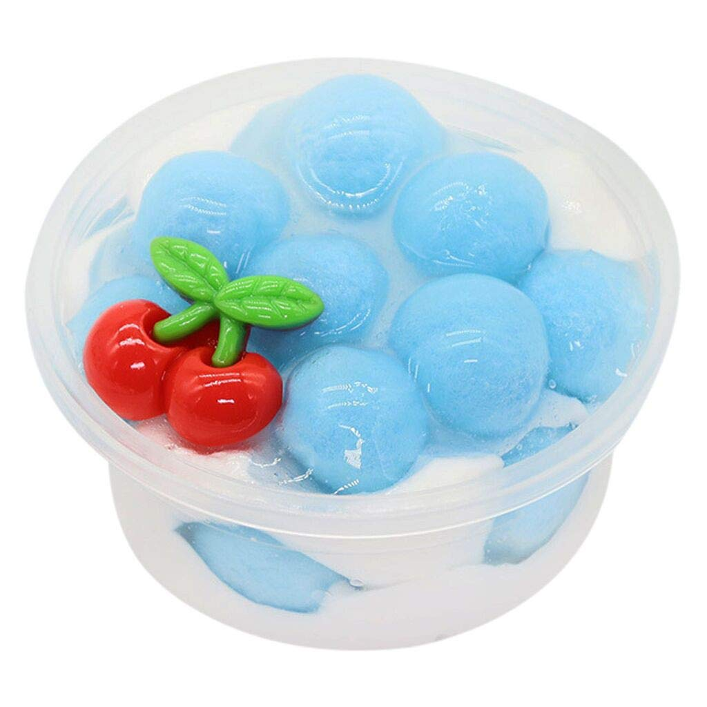 DIGOOD DIY Fruits Crystal Slime Clay Toy, Slime Mud Soft Squeeze Plasticine Mud Toy Gift Relief Stress (Light Blue)