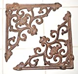 New 16 Cast Iron by YourLuckyDecor Antique Style ARROW Brackets, Garden Braces Shelf Bracket