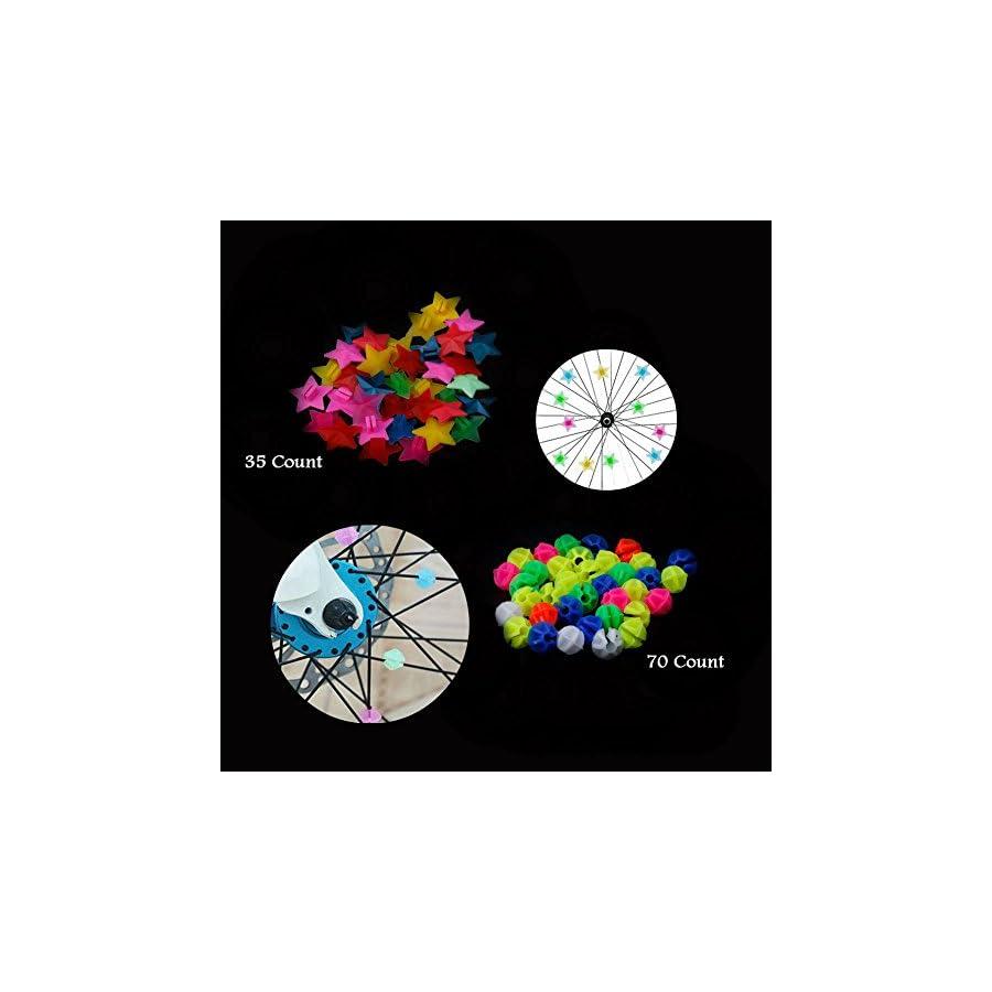 AKOAK Assorted Color Mountain Road Cycling Bicycle Wheel Spoke Beads Bike Spoke Decoration