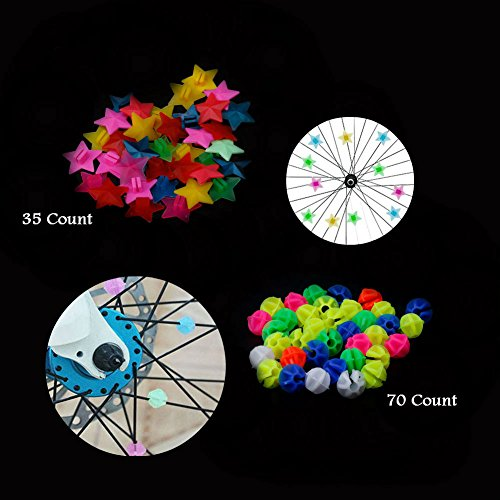 AKOAK Assorted Color Mountain Road Cycling Bicycle Wheel Spoke Beads Bike Spoke Decoration