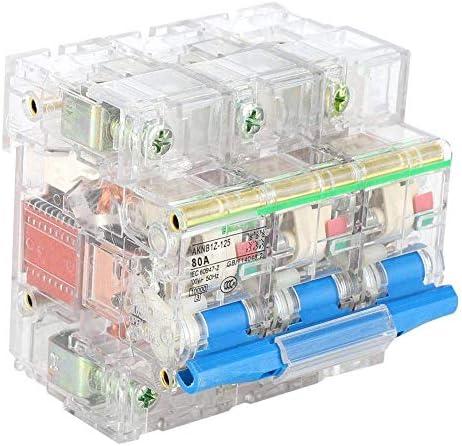 ZGQA-GQA 透明外装ケースAC 63A / 80A / 100A / 125A(DZ47-3P(80A))とサーキットブレーカDZ47 3極電気回路ブレーカ