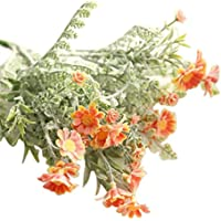 Artificial Flowers, Napoo 10 Heads Simulation Lavender Flowers Wedding Home Decoration (Orange)