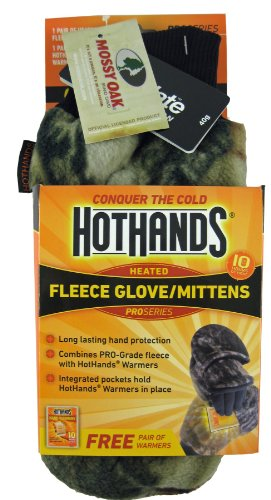 Heatmax Heated Fleece Mitten, Medium/Large, Mossy (Heated Hunting Gloves)