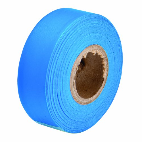 Brady Flourescent Blue Flagging Tape for Boundaries and Hazardous Areas - Non-Adhesive Tape, 1.188