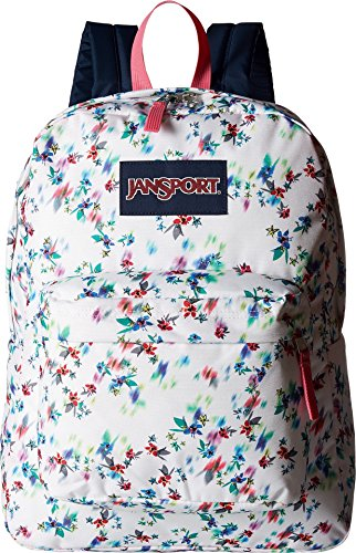 JanSport Unisex SuperBreak Multi White Floral Backpack