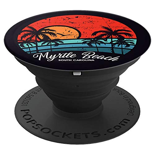 Myrtle Beach South Carolina Vintage Retro Beach Sun Sunset PopSockets Grip and Stand for Phones and Tablets ()