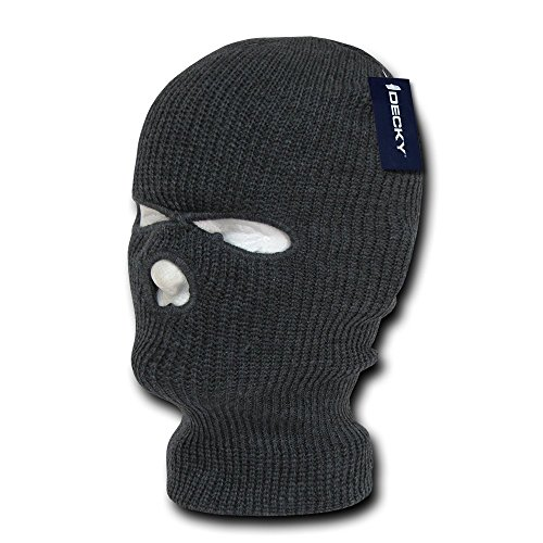 DECKY Face Mask 3 Holes Beanie, Heather - Ski Hole Mask