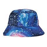 ZLYC Unisex Galaxy Bucket Hat Summer Fisherman Cap Men Women, Blue