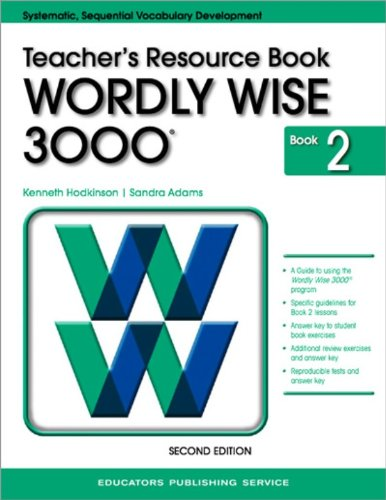 Wordly Wise 3000 Grade 2 Teacher Resource Book pdf epub
