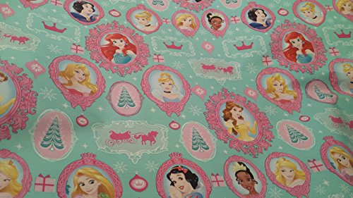Homemade Princess Belle Costumes (Christmas Wrapping Princess Holiday Paper Gift Greetings Sleeping Beauty Belle Cinderella Tiana 1 Roll Design Festive Wrap Disney Bulbs)