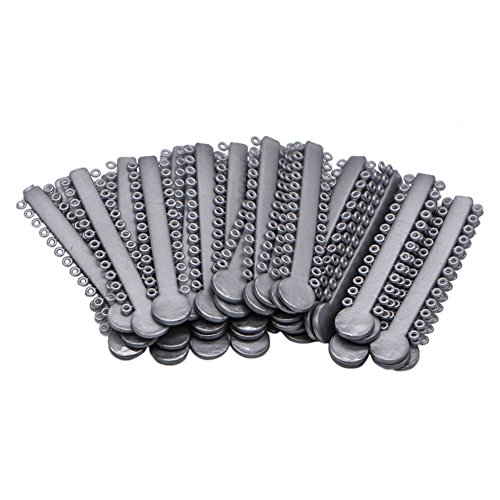 Dental Orthodontics Elastic Rubber Bands Ligature Ties Orthodontic Treatment Dental Supply (Gray)