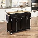 Home Styles 4528-95 Dolly Madison Kitchen Cart, Black Finish