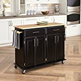 kitchen cabinet bar height Home Styles 4528-95 Dolly Madison Kitchen Cart, Black Finish