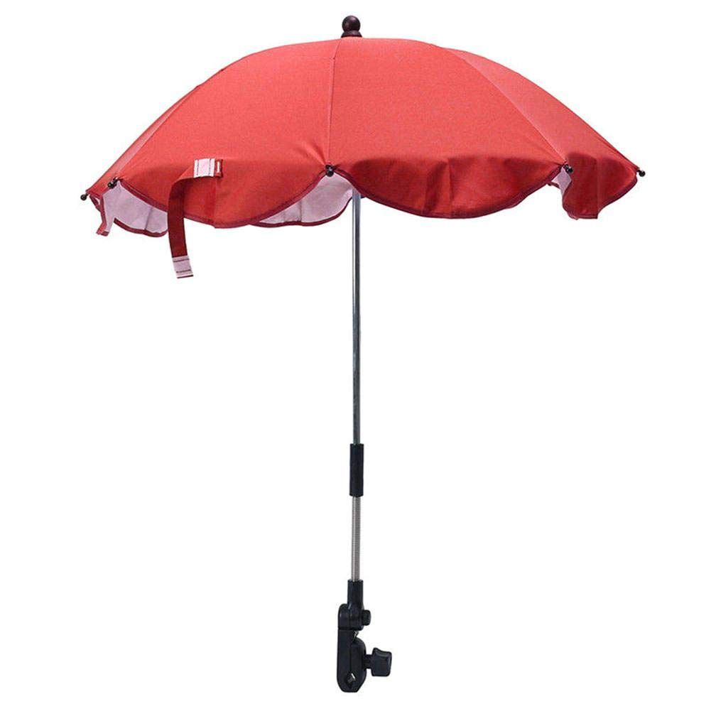 Beimaiji Trade Baby Umbrella Stroller,Kids Sun Umbrella Flexible Flexible Parasol Buggy Pushchair, Pram Stroller Shade Canopy Cover Protects Babies and Infants from UV Rays 无