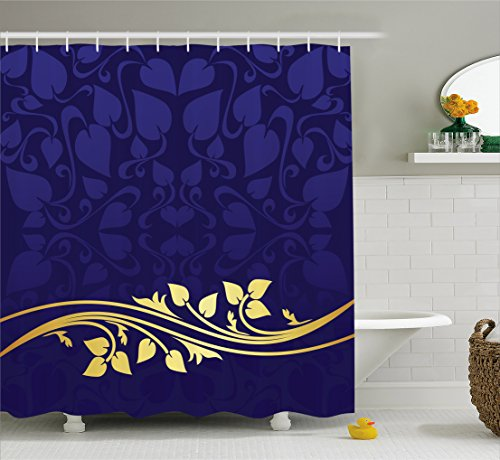 Ambesonne Curtain Romantic Pattern Bathroom
