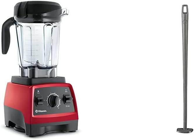 Vitamix, Red 7500 Blender, Professional-Grade, 64 oz. Low-Profile Container & Blade Scraper Accessory, Grey