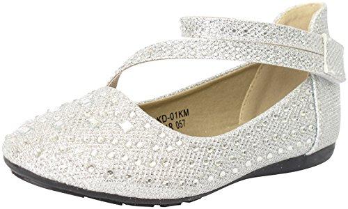 Silver Rhinestone Shoes - 6