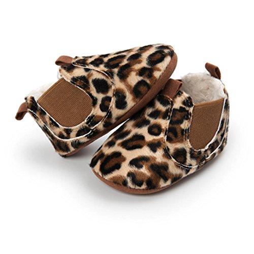❆Huhu833 Kinder Mode Baby Schuhe Soft Sole, Baby Kleinkind Plüsch Sole einzelne Schuhe beiläufige Mit Samt Schuhe (0~18 Month) Kaffee