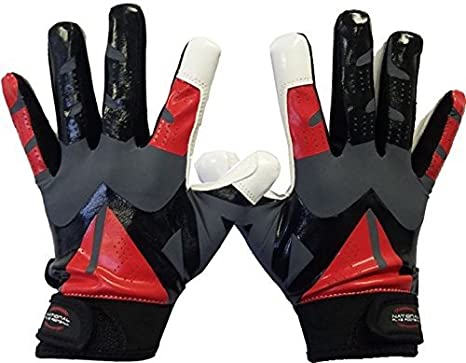 Amazon.com   National Flag Football Youth Football Gloves ... 6c0bea69af
