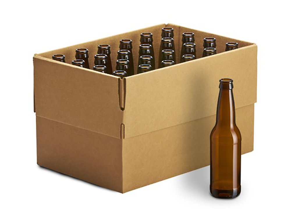 Home Brew Ohio 12 oz. Crown Cap Amber Longneck Bottles (Pack of 24)