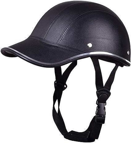 Baseball Cap Motorcycle Bike Helmet Anti-UV Adjustable Safety Hat Visor Cycling