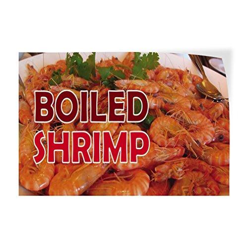Decal Sticker Multiple Sizes Boiled Shrimp Restaurant & Food Boiled Shrimp Outdoor Store Sign Brown - 20inx14in, Set of 5 ()