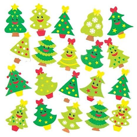 Set Di Adesivi In Gommapiuma Con Allegri Alberi Di Natale Per