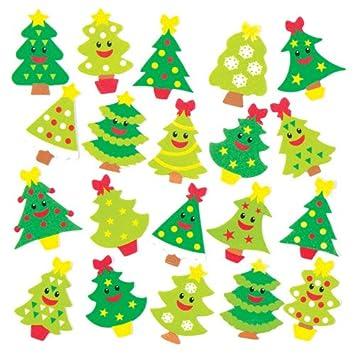 Weihnachtskarten Baby Basteln.Moosgummi Aufkleber Fröhlicher Weihnachtsbaum Für Kinder Zum Basteln