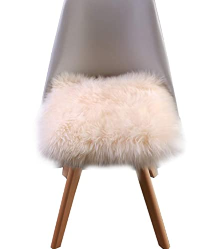 Attrayant Sigmat Faux Sheepskin Chair Pad Soft Long Wool Stool Cover CarSeat Cover  With Straps 18u0026quot;