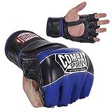 Combat Sports Pro-Style MMA Gloves, Blue, X-Large