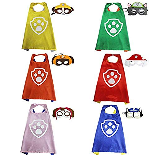 STARKMA Cartoon Costume 6 Satin Cape with Felt Mask]()